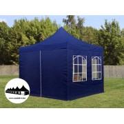 3x3m összecsukható pavilon ablakos Kék (Normál kivitelű Pop-Up)