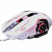 Con Cable De Luz LED 4000DPI Gaming Mouse Con Sonido - Blanco