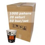 Pahar carton 8oz Coffee AYE bax 1000buc