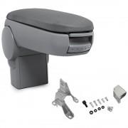 [pro.tec]® Lakťová opierka pre Golf IV / Bora / New Beetle - lakťová opierka - s odkladacím priestorom - tkanina - sivá