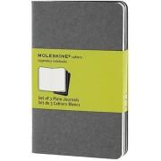 Moleskine Pebble Grey Plain Cahier Pocket Journal (3 Set), Hardcover
