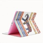 Apple Nationale stijl olifanten patroon horizontale Flip lederen draagtas met houder & Card Slots & portemonnee voor iPad 4 / 3 / 2
