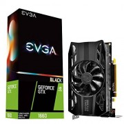 EVGA GeForce GTX 1660 Black Gaming, 6GB GDDR5, Ventilador único 06G-P4-1160-KR