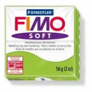 Gyurma, 56 g, égethető, FIMO Soft, alma zöld