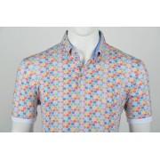 Culture Polo Button Down Modern Fit Print Multicolor XL