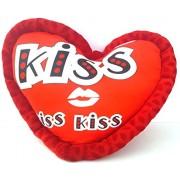 URVI Creations Romantic Valentine Gift Heart Love KISS Pillow \ Cushion for Valentine Gifts for Boyfriend Girlfriend.