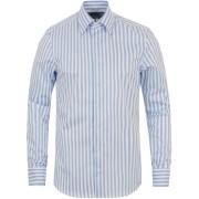 Stenströms Slimline Stripe Shirt White/Light Blue