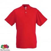 Fruit of the Loom Polo p/ homem original, vermelho, XXL