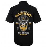 Chemise pour hommes BLACK HEART - WHISKERY - NOIR - 008-0023-BLK
