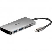 D-Link DUB-M610 6 ulaza USB 3.0 hub srebrna