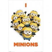 Minions Slaapkamer poster I love Minions