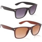 David Martin Wayfarer Sunglasses(Grey, Brown)