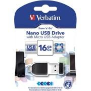 USB memorija 16 GB Verbatim Nano Store'n'Stay nanoUSB 2.0/microUSB