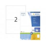 Herma 4282 Etiketter 210 x 148 mm Papper Vit 200 st Permanent Universaletiketter, Fraktetiketter Bläck, Laser, Kopia