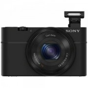 Цифров фотоапарат Sony Cyber Shot DSC-RX100 black + Leather case - RX100LCJXXDI.YS