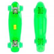 Пени борд MARONAD Retro Transparent със светещи колела Green