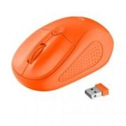 Мишка TRUST Primo 21925, оптична(1600 dpi), безжична, USB, оранжева, до 8м обхват