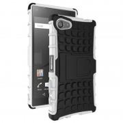 Capa Híbrida Anti-Deslizante para Sony Xperia Z5 Compact - Preto / Branco