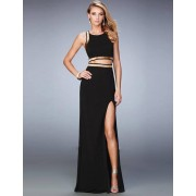 Black Cross-Strapped Gown