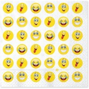 Servetele 33 x 33 cm emoticoane Big Party