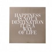 "Mesaj motivational "" Happiness "" Camel/Alb, Lemn"