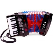 New Classic Toys - 10057 Musical Toy Instruments Accordion with Music Book Black