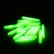 Green Fishing Light Lighted Fishing Bobbers - 15Pcs 4.5x36mm Fishing Fluorescent Lightstick Light Night Float Rod Lights Dark Glow Stick - Fishing Glow Sticks