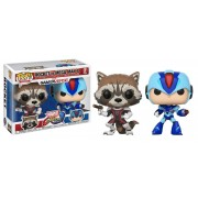 Funko Pop TV: Marvel Capcom-Rocket Raccoon Vs Megaman