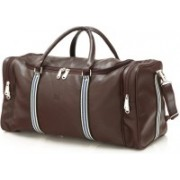 Mboss Faux leather Unisex Brown Multi Dotted Small Travel Bag - Medium(Brown)