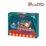 Puzzle 3D Tunul clown-ului, 52 piese