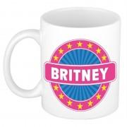 Bellatio Decorations Voornaam Britney koffie/thee mok of beker