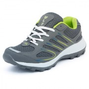Asian Men Gray & Green Lace-Up Training Shoes