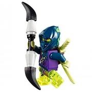 LEGO Ninjago Ghost Warrior Yokai minifigure with double spear and katanas