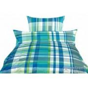 Lemjerie de pat, Vivre Thomas, garnitură, 2 piese, pătrețele albastru, (20814100)