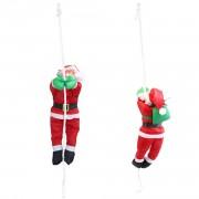 Дядо Коледа се катери на въже - 85 x 12 см.- Коледна декорация