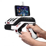 antifiction Alpha 3D VR AR Gun Mobile Game Bluetooth Controller Toy Android iOS Latest Novelty Best Gift for Kids Boy Girl Men Free APP many Augmented Virtual Reality 360 degree Games