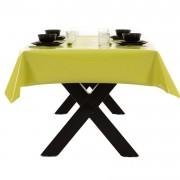 Merkloos Buiten tafelkleed/tafelzeil limegroen 140 x 200 cm rechthoekig