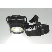 Lanterna frontala 3W COB LED, lumeni