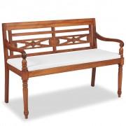 Producent: Elior Drewniana ławka ogrodowa Rea 2X - brązowa