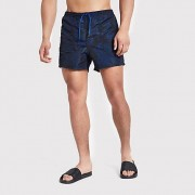 Only and Sons donkerblauwe swemshorts met print Heren