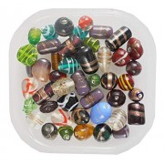 eshoppee Multicolor Multi Mix Color Fancy Glass Beads Bead Mixing 200 gm for Jewellery Art and cradft DIY do it Yourself kit