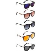 Ultra Digits Wayfarer Sunglasses(Violet, Brown, Grey, Orange, Black)