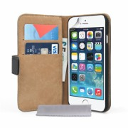 Caseflex iPhone 6/6s Real Leather Wallet Case - Black