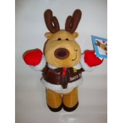 "Santa's Team Flight School Reindeer Plush 12"" with Leather Jacket by American Greetings"