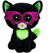 TY Peluche Halloween Cat with Glitter eyes Jinxy 15cm