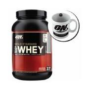 Kit Whey Protein 100% Gold Standard 909g Chocolate + Caneca - Optimum Nutrition