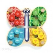 Drewniana układanka Motylek, zabawka logiczna, nauka planowania ruchów kolorów i kształtów DJECO DJ01695