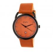 Simplify The 4900 Leather-Band Watch w/Date - Black/Orange SIM4905