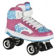 Powerslide Rolschaatsen Quad Player roze/blauw maat 38