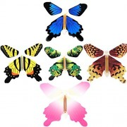 Magic Flying Butterfly Flies From Cards Letters Books Gifts and Flowers Surprise 5 Pcs Set